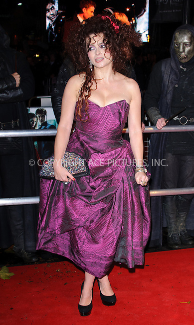WWW.ACEPIXS.COM . . . . .  ..... . . . . US SALES ONLY . . . . .....November 11 2010, London....Helena Bonham Carter at the World premiere of 'Harry Potter and the Deathly Hallows Part 1' held at the Odeon Leicester Square on November 11 2010 in London....Please byline: FAMOUS-ACE PICTURES... . . . .  ....Ace Pictures, Inc:  ..Tel: (212) 243-8787..e-mail: info@acepixs.com..web: http://www.acepixs.com