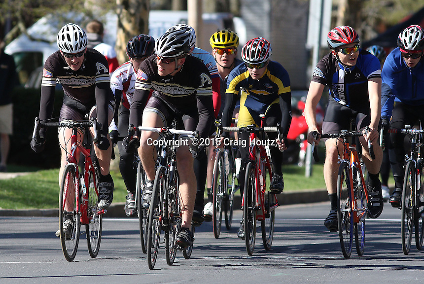 The Men's D2 of the Penn State Frat Row Criterium of the Eastern Collegiate Cycling Conference Championships on April 26, 2015. Photo'© 2015 Craig Houtz