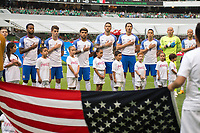 Action photo during the match Mexico vs USA, Corresponding to the Hexagonal Final of the Qualifying of the CONCACAF course for the 2018 FIFA World Cup Russia, at Azteca Stadium. <br /> <br /> Foto de accion durante el partido Mexico vs Estados Unidos, Correspondiente al Hexagonal Final de las Eliminatorias de la CONCACAF rumbo a la Copa Mundial de la FIFA Rusia 2018, en el Estadio Azteca, en la foto:   Equipo  USA cantando himno<br /> <br /> 11/06/2017/MEXSPORT/Javier Ramirez