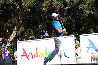 Danny Willett (ENG) during the final day of the  Andalucía Masters at Club de Golf Valderrama, Sotogrande, Spain. .Picture Fran Caffrey www.golffile.ie