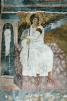 white angel,sleeping roman soldiers,fresco,nave,northern wall,Milesheva  Monastery of Ascension of the Lord , 1234-1235