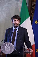 Roma,14 Marzo 2017<br /> Il ministro della cultura Dario Franceschini.<br /> Presentazione della 25ma edizione delle 'Giornate Fai di Primavera' a Palazzo Chigi