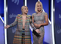 BEVERLY HILLS, CA - MARCH 28:  Hayley Kiyoko. Gigi Gorgeous at the 30th Annual GLAAD Media Awards at the Beverly Hilton on March 28, 2019 in Beverly Hills, California. (Photo by Frank Micelotta/PictureGroup)