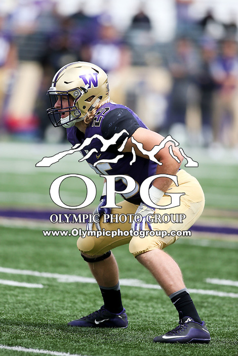 03 September 2016: Washington's Ben Burr-Kirven against Rutgers.  Washington defeated Rutgers 48-13 at the University of Washington in Seattle, WA.