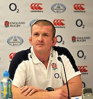London, England. Graham Rowntree, one of the England rugby coaches, talks to the media at a press conference to announce the England rugby squad for the QBE Internationals on October 25, 2012 in London, England.