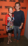 Marin Mazzie and Jason Janieley attends the Opening Night performance of 'A Parallelogram'  at The Second Stage Theatre on August 2, 2017 in New York City.