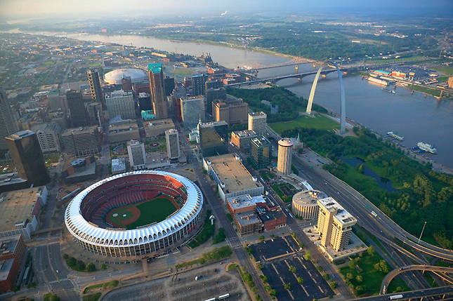 Downtown St Louis along Mississippi River