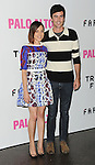 Aubrey Plaza and date arriving at the Los Angeles Premiere of Palo Alto, held at Directors Guild of America May 5, 2014.