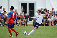 Jared Jeffrey (8) of the USA. The US U-20 Men's National Team defeated the U-20 Men's National Team of Costa Rica 2-1 in an international friendly during day four of the US Soccer Development Academy  Spring Showcase in Sarasota, FL, on May 25, 2009.
