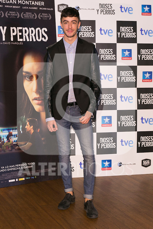 "Victor Palmero attends the ""DIOSES Y PERROS "" Movie presentation at Kinepolis Cinema in Madrid, Spain. October 6, 2014. (ALTERPHOTOS/Carlos Dafonte)"