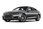 Stock pictures of low aggressive front three quarter view of a 2018 Audi S5 Sportback Base 5 Door Hatchback