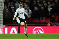 Christian Eriksen of Tottenham during Tottenham Hotspur vs West Ham United, Premier League Football at Wembley Stadium on 4th January 2018