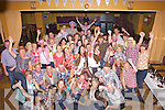 Celebrating heis 40th birthday in Country and Western Style was Michael Scannell from Abbeyfeale, pictured here center with wife Mags and many family and friends last Saturday night in The Gables, Athea.