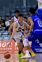 Action from the 2018 Schick AA Boys' Secondary Schools Basketball Premiership National Championship final between Rosmini College and St Patrick's College Town at the B&M Centre in Palmerston North, New Zealand on Saturday, 6 October 2018. Photo: Dave Lintott / lintottphoto.co.nz