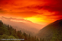 Sunset from Morton Overlook, Great Smoky Mountains National Park, Tennessee