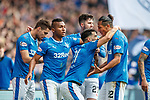 11.3.2018 Rangers v Celtic:<br /> Daniel Candeias celebrates his goal with Bruno Alves