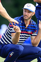 Dustin Johnson US Team on the 11th green during Thursday's Practice Day of the 41st RyderCup held at Hazeltine National Golf Club, Chaska, Minnesota, USA. 29th September 2016.<br /> Picture: Eoin Clarke | Golffile<br /> <br /> <br /> All photos usage must carry mandatory copyright credit (&copy; Golffile | Eoin Clarke)