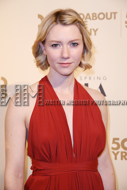 Valorie Curry attends the Roundabout Theatre Company's  50th Anniversary Gala at The Waldorf-Astoria on February 29, 2016 in New York City.