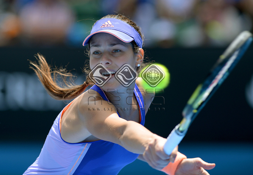 Ana Ivanovic (SRB) goes out 1st round to Lucie Hradecka (CZE)<br /> 2015 Australian Open Tennis <br /> Grand Slam of Asia Pacific<br /> Melbourne Park, Vic Australia<br /> Monday 19 January 2015<br /> &copy; Sport the library / Jeff Crow
