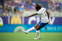 Orlando, FL - Sunday July 10, 2016: Eunice Beckmann during a regular season National Women's Soccer League (NWSL) match between the Orlando Pride and the Boston Breakers at Camping World Stadium.