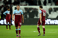 29th January 2020; London Stadium, London, England; English Premier League Football, West Ham United versus Liverpool; A dejected Mark Noble and Pablo Fornals of West Ham United after the 0-2 loss