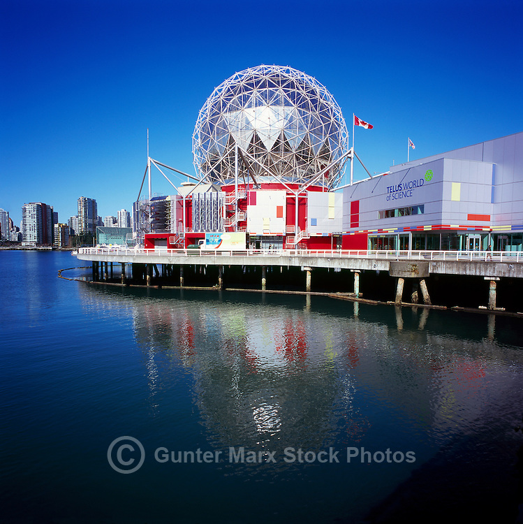 Telus World of Science (aka Science World) at False Creek, Vancouver, British Columbia, Canada - Renovation at Science World completed in 2012.