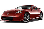 Low aggressive front three quarter view of a 2013 Nissan 370Z Nismo Coupe