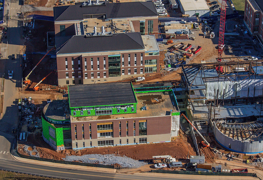 Campus aerials and of construction in progress taken January 28, 2015 Photo by David Duncan