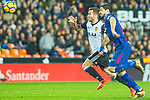 Luis Alberto Suarez Diaz of FC Barcelona competes for the ball with Ezequiel Garay of Valencia CF during the La Liga 2017-18 match between Valencia CF and FC Barcelona at Estadio de Mestalla on November 26 2017 in Valencia, Spain. Photo by Maria Jose Segovia Carmona / Power Sport Images