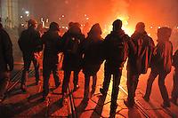 - Milan, protest demonstration against the evacuation of the historic social center Conchetta, home to the Calusca library  and Primo Moroni Archive<br /> <br /> - Milano, manifestazione di protesta contro lo sgombero dello storico centro sociale Conchetta, sede della libreria Calusca e dell'archivio Primo Moroni