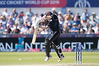 Kane Williamson (New Zealand) defends feet off the ground during England vs New Zealand, ICC World Cup Cricket at The Riverside Ground on 3rd July 2019