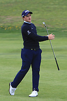 Paul Dunne (IRL) on the 1st fairway during Round 1 of the Open de Espana 2018 at Centro Nacional de Golf on Thursday 12th April 2018.<br /> Picture:  Thos Caffrey / www.golffile.ie<br /> <br /> All photo usage must carry mandatory copyright credit (&copy; Golffile | Thos Caffrey)