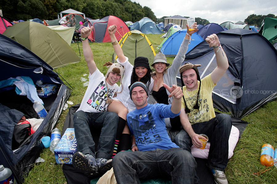 3/9/10 Brian Butler, Laura Donohoe, Catriona Mockler, Paddy Murray and Coleman Buckley, Westmeath at the Electric Picnic in Stradbally in Laois. Picture:Arthur Carron/Collins