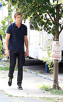 Liam Hemsworth pictured on set of Paranoia in South Philadelphia, Pa on July 24, 2012  © Star Shooter / MediaPunchInc /NortePhoto.com<br />