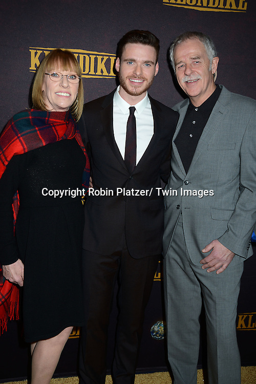 "Richard Madden and parents Pat and Dick Madden attend the premiere of Discovery Channel's first scripted series  "" Klondike"" on January 16, 2014 at Best Buy Theater in New York City. The series will run on January 20, 21 and 22, 2014."