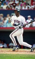 Cleveland Indians Glenallen Hill during Spring Training 1992 at Chain of Lakes Park in Winter Haven, Florida.  (MJA/Four Seam Images)