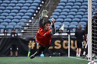 SEATTLE, WA - NOVEMBER 9: Trey Muse #1 of the Seattle Sounders FC at CenturyLink Field on November 9, 2019 in Seattle, Washington.