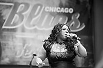 CHICAGO, june 9, 2013 : Final night of Chicago Blues Festival with a Chicago Blues All-Star lineup : Jimmy Burns, Jimmy Johnson, Billy Branch, James Cotton, Eddy &quot;The Chief&quot; Clearwater, Lil' Ed, John Primer, Deitra Farr, Demetria Taylor, Matt SKoller, Billy Flynn.<br /> Demetria Taylor singing &quot;I am a bad girl&quot;...