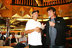 Mike Gold and Frank Dicopoulos at Meet & Greet - Day 2 - August 1, 2010 - So Long Springfield at Sea aboard Carnival's Glory (Photos by Sue Coflin/Max Photos)
