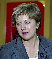 Theresa May, MP, Conservative Party, UK, October, 1999, 19991022<br /><br />Copyright Image from Victor Patterson, 54 Dorchester Park, <br />Belfast, UK, BT9 6RJ<br /><br />t1: +44 28 9066 1296 (from Rep of Ireland 048 9066 1296)<br />t2: +44 28 9002 2446 (from Rep of Ireland 048 9002 2446)<br />m: +44 7802 353836<br /><br />victorpattersonbelfast@gmail.com<br /><br />Please see my Terms and Conditions of Use at victorpatterson.com. It is IMPORTANT that you familiarise yourself with them.<br /><br />Images used on the Internet incur an additional cost and must be visibly watermarked i.e. &copy; Victor Patterson within the body of the image and copyright metadata must not be deleted. Images used on the Internet have a size restriction of 4kbs and are chargeable at rates available at victorpatterson.com.<br /><br />This image is available only for the use of the download recipient i.e. television station, newspaper, magazine, book publisher, etc, and must not be passed on to any third party. It is also downloaded on condition that each and every usage is notified within 7 days to victorpattersonbelfast@gmail.com<br /><br />The right of Victor Patterson (or the named photographer) to be identified as the author is asserted in accordance with The Copyright Designs And Patents Act (1988). All moral rights are asserted.