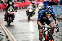 eventual silver medalist Alessio Martinelli (ITA)<br /> <br /> Junior Men road race<br /> from Richmond to Harrogate (148km)<br /> 2019 Road World Championships Yorkshire (GBR)<br /> <br /> ©kramon