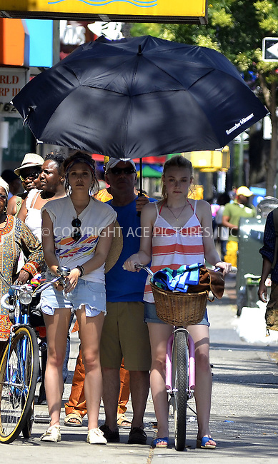WWW.ACEPIXS.COM . . . . .  ....July 5 2012, New York City....Elizabeth Olsen and Dakota Fanning on the Brooklyn set of the new movie 'Very Good Girls' on July 7 2012 in New York City....Please byline: CURTIS MEANS - ACE PICTURES.... *** ***..Ace Pictures, Inc:  ..Philip Vaughan (212) 243-8787 or (646) 769 0430..e-mail: info@acepixs.com..web: http://www.acepixs.com