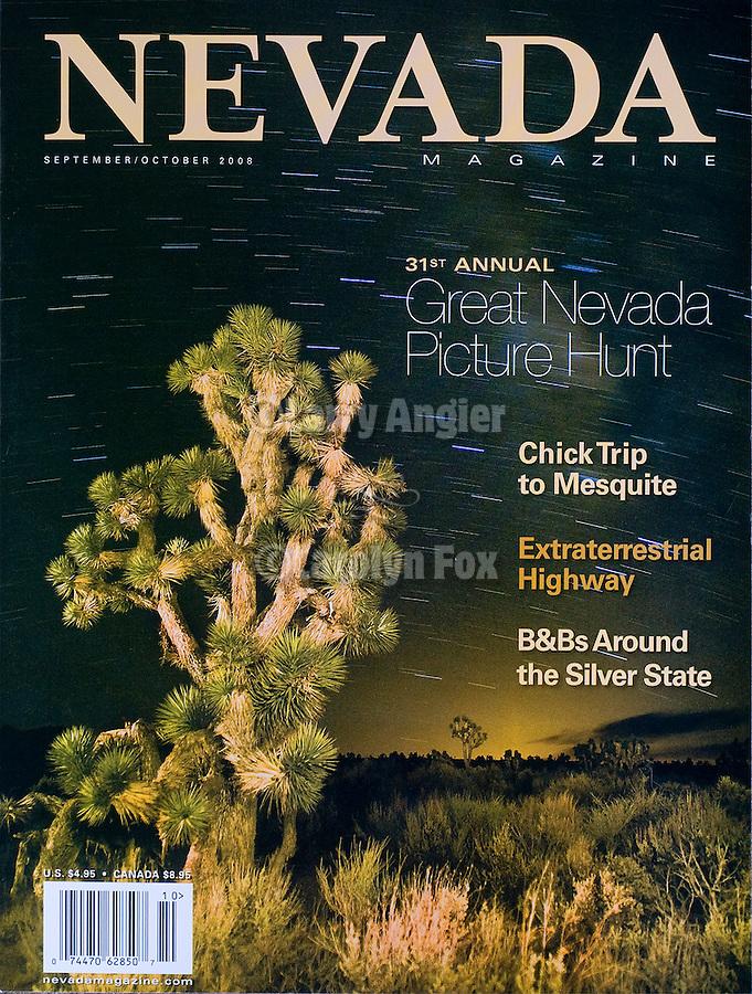 Published photography by Larry Angier..Cover photo, NEVADA magazine