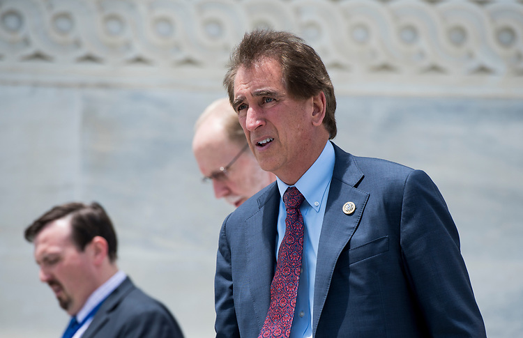 UNITED STATES - JUNE 28: Rep. Jim Renacci, R-Ohio, walks down the House steps after the last votes before the July 4th recess on Thursday, June 28, 2018. (Photo By Bill Clark/CQ Roll Call)