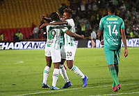 BOGOTÁ - COLOMBIA, 29-01-2020: Gustavo Torres del Atlético Nacional  celebra después de anotar el primer gol de su equipo partido entre La Equidad y Atlético Nacional por la fecha 2 de la Liga BetPlay I 2020 jugado en el estadio Nemeso Camacho El Campín de la ciudad de Bogotá. / Gustavo Torres of Atletico Nacional  celebrates after scoring the first goal of his team during match between La Equidad and Atletico Nacional  for the date 2 as part of BetPlay League I 2020 played at Nemesio Camacho El Campin stadium in Bogota.Photo: VizzorImage / Felipe Caicedo / Staff