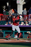 Altoona Curve Mitchell Tolman (19) at bat during an Eastern League game against the Erie SeaWolves on June 3, 2019 at UPMC Park in Erie, Pennsylvania.  Altoona defeated Erie 9-8.  (Mike Janes/Four Seam Images)