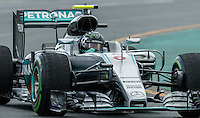 March 18, 2016: Nico Rosberg (DEU) #6 from the Mercedes AMG Petronas team rounds turn 2 during practise session one at the 2016 Australian Formula One Grand Prix at Albert Park, Melbourne, Australia. Photo Sydney Low