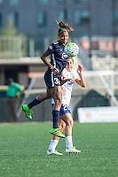 Allston, MA - Sunday July 17, 2016: Tasha Kai, Angela Salem during a regular season National Women's Soccer League (NWSL) match between the Boston Breakers and Sky Blue FC at Jordan Field.