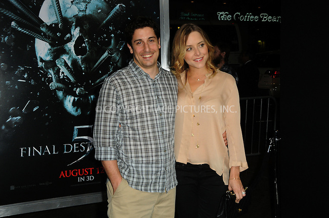 WWW.ACEPIXS.COM . . . . .  ....August 10 2011, LA....Jason Biggs and wife arriving at a screening of 'Final Destination 5' at the Chinese Theater on August 10, 2011 in Los Angeles, California. ....Please byline: PETER WEST - ACE PICTURES.... *** ***..Ace Pictures, Inc:  ..Philip Vaughan (212) 243-8787 or (646) 679 0430..e-mail: info@acepixs.com..web: http://www.acepixs.com