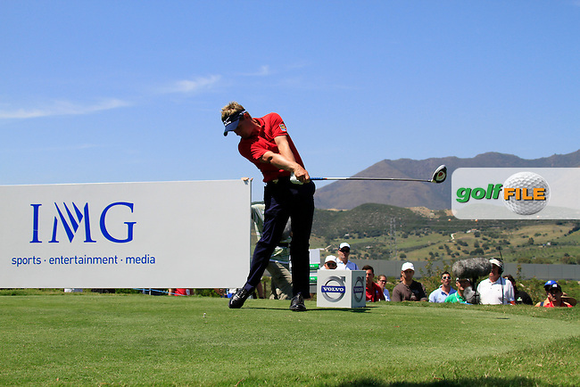 Luke Donald (ENG) tees off on the 8th tee during the afternoon Final session on the Final Day of the Volvo World Match Play Championship in Finca Cortesin, Casares, Spain, 22nd May 2011. (Photo Eoin Clarke/Golffile 2011)